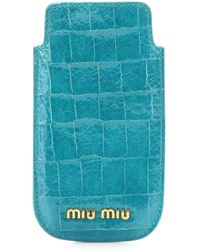 Miu Miu Crocembossed Patentleather Iphone Case - Lyst
