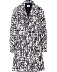 Philosophy di Alberta Ferretti Wool Blend Boucle Coat in Blackwhite - Lyst