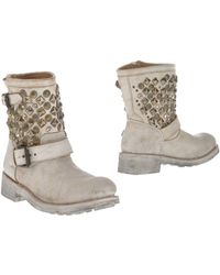 Ash White Ankle Boots - Lyst