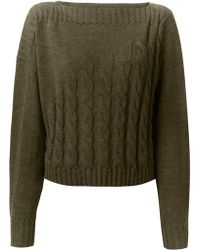 Jean Paul Gaultier Cable Knit Sweater - Lyst
