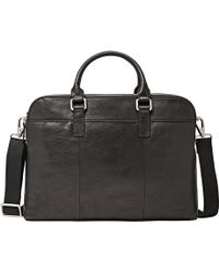Fossil - Mercer Leather Workbag - Lyst