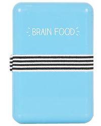 Topshop Brain Food Lunchbox blue - Lyst