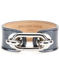 Balenciaga Maillon Patent Leather Bracelet - Lyst