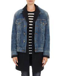 R13 Coat Combo Jeans Jacket   - Lyst
