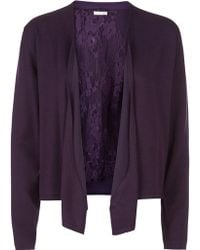 Jacques Vert - Lace Waterfall Cardigan - Lyst