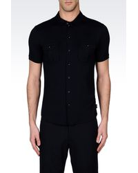 Armani Short-Sleeved Jersey Shirt - Lyst