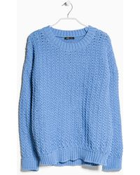 Mango Reverse Knit Sweater - Lyst