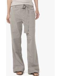 James Perse Belted Poplin Field Pant gray - Lyst