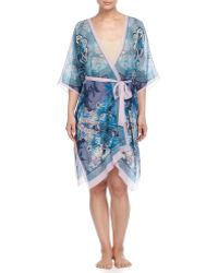 Meng - Printed Open-front Wrap Dress - Lyst