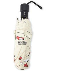 Moschino Let Love Rain Umbrella - Lyst