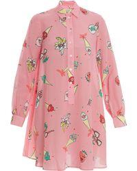 Paul & Joe Printed Shirt Dress - Lyst