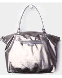 MZ Wallace Chelsea Weekender Distressed Silver - Lyst
