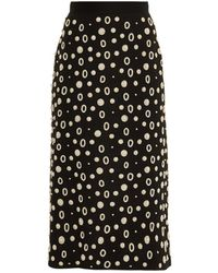 OSMAN - Pearl-embellished Midi Skirt - Lyst