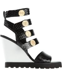 Kenzo Black Coins Sandals - Lyst