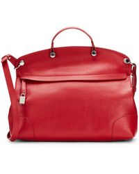 Furla Piper Top Handle Saffiano Leather Tote - Lyst