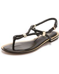 Michael Kors Hartley Flat Sandals - Black - Lyst