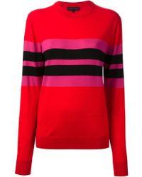 Jonathan Saunders Stripe Detail Crew Neck Sweater - Lyst
