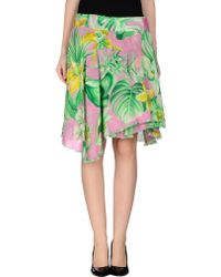 Versace Jeans Couture Knee Length Skirt - Lyst