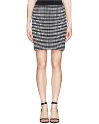Theory 'Miralo B' Check Knit Skirt black - Lyst