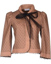 RED Valentino Leather Outerwear - Lyst