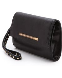 B Brian Atwood Tippy Wristlet with Interior Mirror Black - Lyst