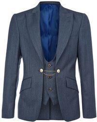 Vivienne Westwood Zigzag Waistcoat Jacket - Lyst