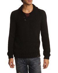Diesel Mercurio Black Sweater with Shawl Collar - Lyst