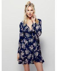 Free People | Womens Echo Ruffle Mini Dress | Lyst