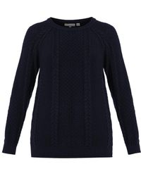 Chinti And Parker Aranknit Navy Wool Sweater - Lyst