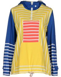 Boy by Band of Outsiders - Hooded Striped Cotton Sweatshirt - Lyst