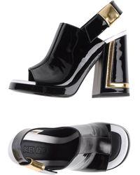 Kenzo Black Sandals - Lyst