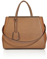 Fendi Small 2jours Leather Satchel - Lyst