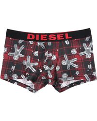 DIESEL | 2-pack Of Shawn Red/tartan Boxer Shorts | Lyst