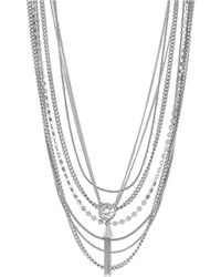 Vince Camuto Multi-Chain Tassel Necklace - Lyst