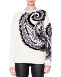 Just Cavalli Woolblend Paisley Jacquard Sweater - Lyst
