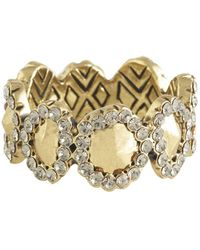 House Of Harlow 1960 Geodesic Band Ring silver - Lyst