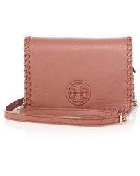 Tory Burch | Marion Whipstitched Leather Crossbody Bag | Lyst