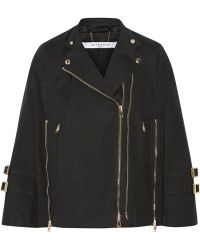 Givenchy - Zip-detailed Cape In Washed Cotton-blend Canvas - Lyst