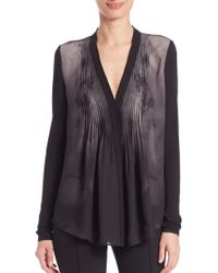 Elie Tahari | Willow Blouse | Lyst