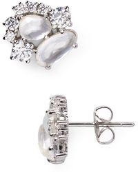 Nadri - Oasis Mother-of-pearl Stud Earrings - Lyst