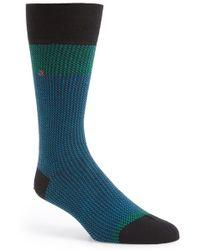 Calvin Klein Jacquard Socks blue - Lyst