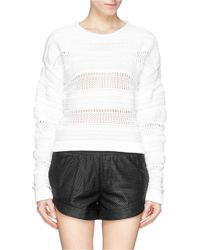 Helmut Lang Mix Stitch Knit Sweater - Lyst