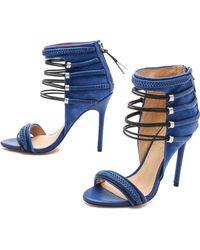 L.A.M.B. - Katelyn Suede Sandals - Intense Blue/Black - Lyst