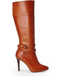 Ralph Lauren Tan Kyla Tall Boots - Lyst