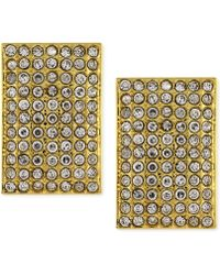 Vince Camuto - Gold Pave Rectangle Clip Earring - Lyst