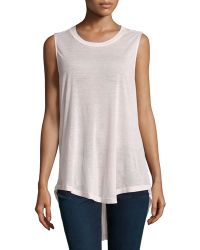 F.t.b By Fade To Blue - Knit Racerback Tank - Lyst