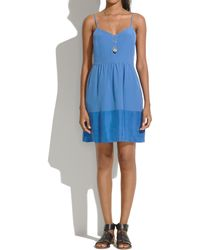 Madewell Silk Bordershine Cami Dress - Lyst