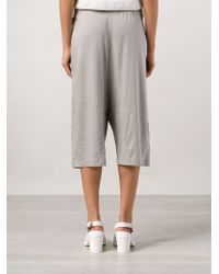 Transit - Drop Crotch Track Shorts - Lyst