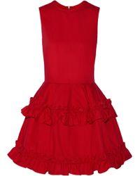 J Brand  Simone Rocha Ruffled Denim Mini Dress - Lyst