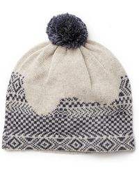 Band Of Outsiders Broken Fair Isle Beanie - Lyst